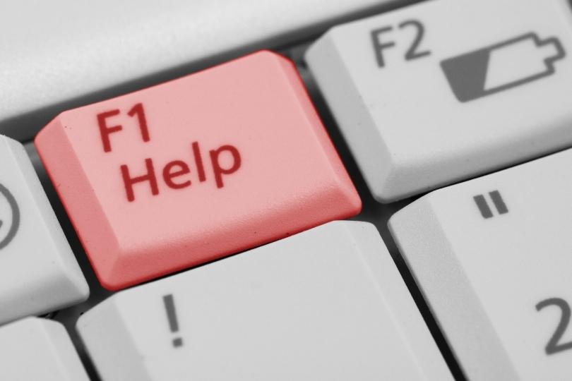 """keyboard key 'F1 Help"""""""